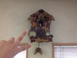 いしかわ矯正歯科 院内時計 トトロ